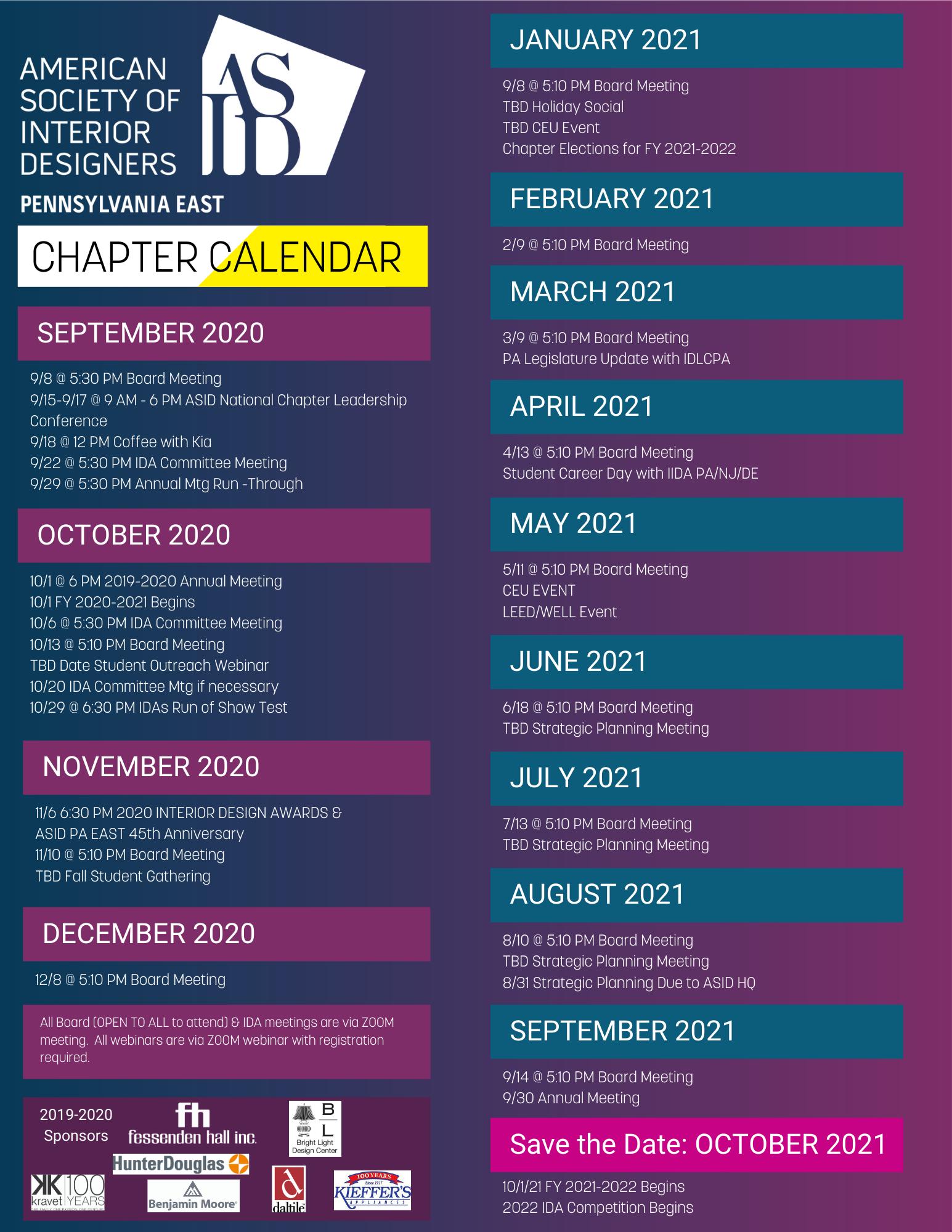 interior design board exam schedule 2018 2021