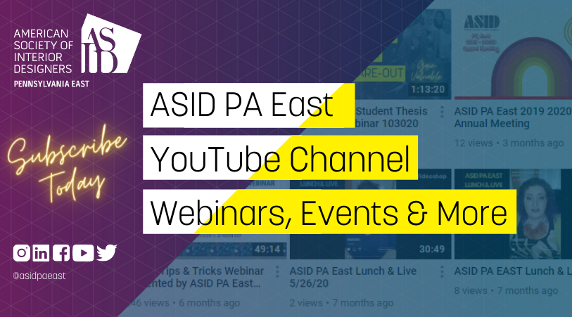 ASID PA East Youtube Channel